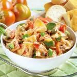Pasta fredda con ricotta, olive, capperi, pomodori!