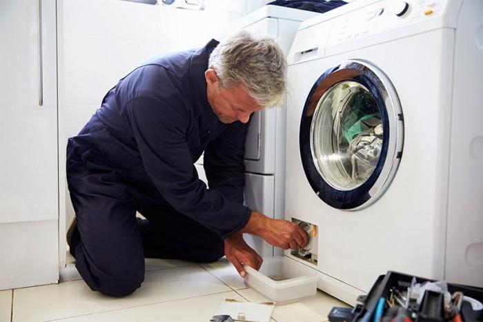 aprire il filtro della lavatrice