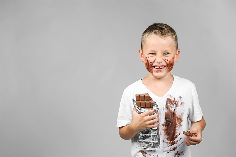 pretrattare macchie cioccolato