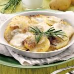 Patate al forno con formaggio e rosmarino