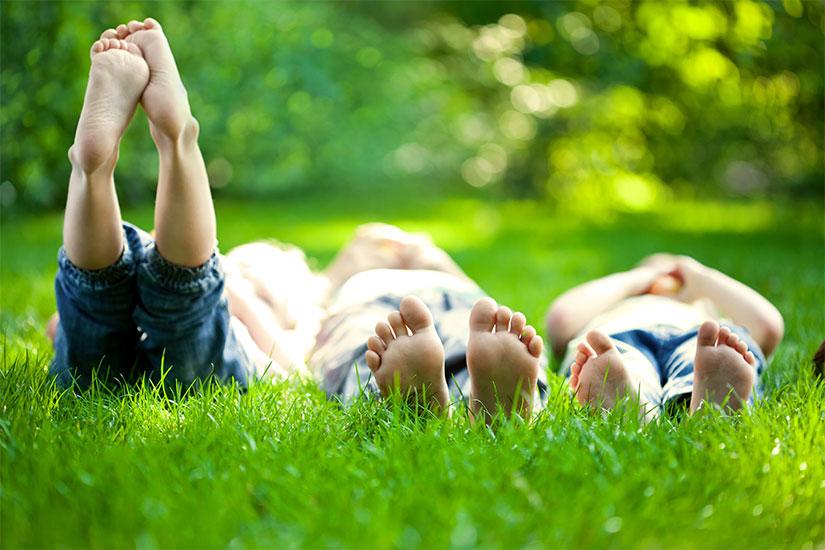 eliminare macchie di erba