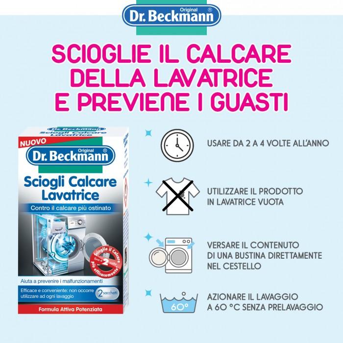 Sciogli calcare lavatrice dr. beckmann
