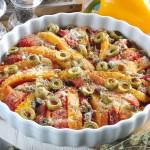 Torta ai peperoni con olive, capperi e origano: bontà mediterranea!