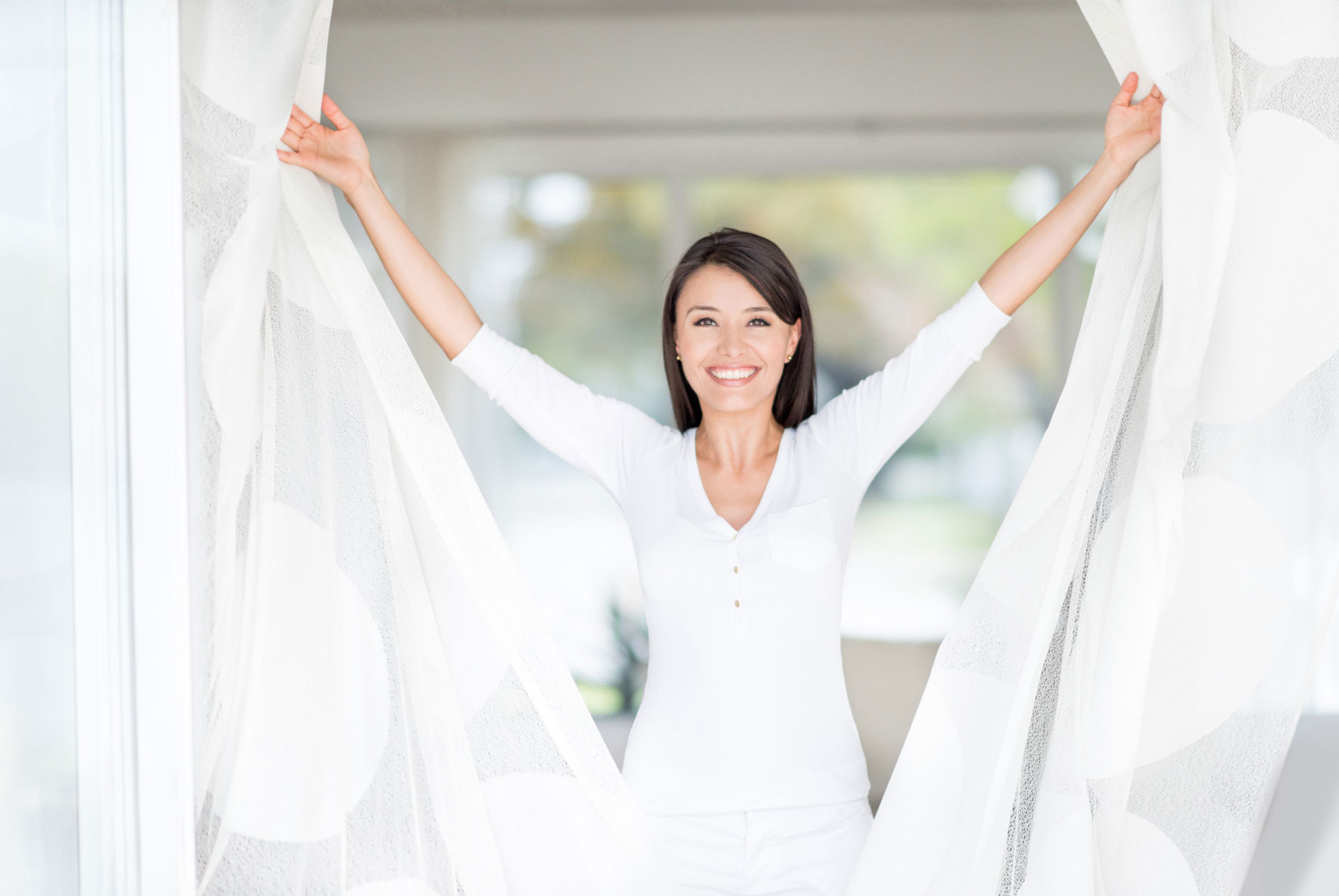 Super Bianco Tende lavatrice