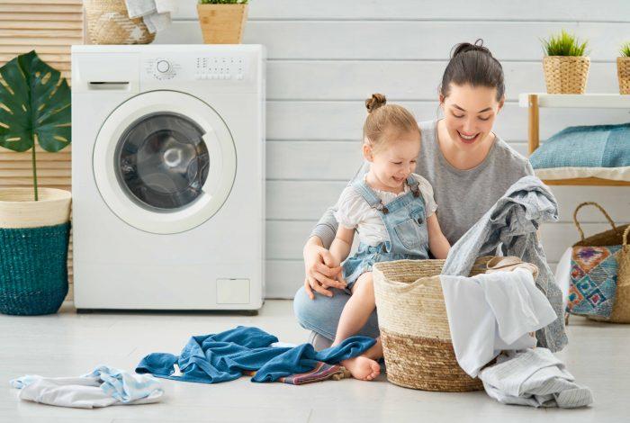lavatrice famiglia felice