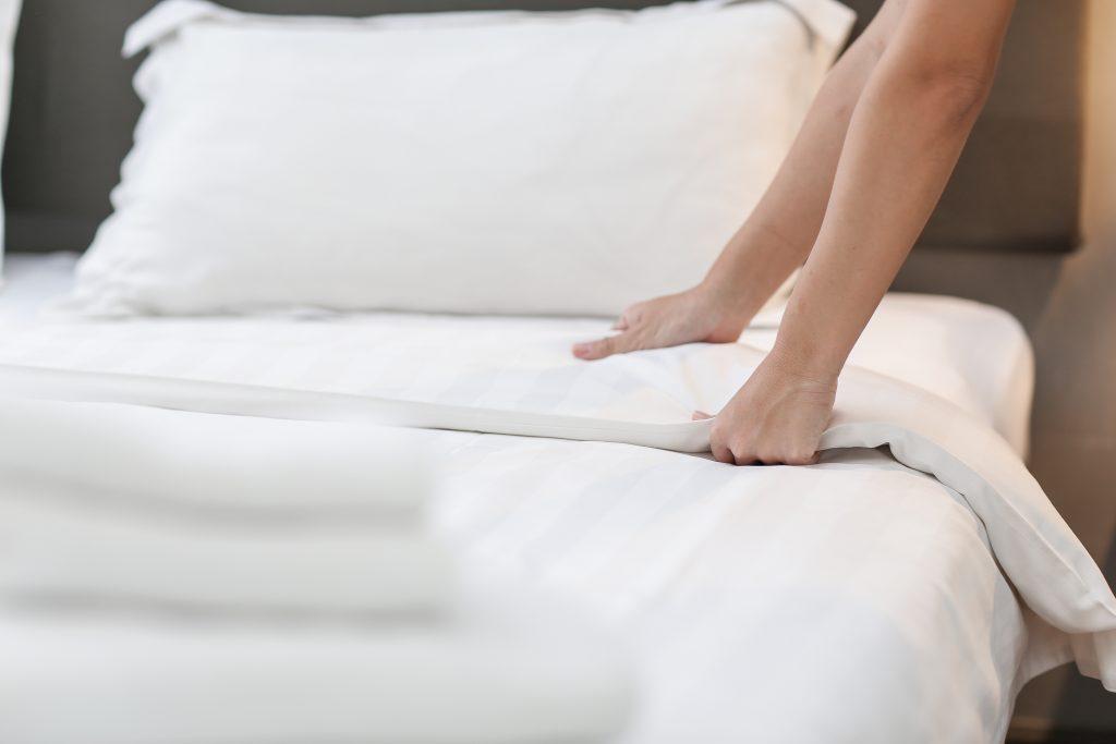 materasso e lenzuola pulite